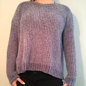 soft aerie purple sweater